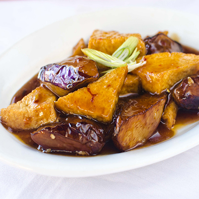 Garlic Egg Plant with Tofu