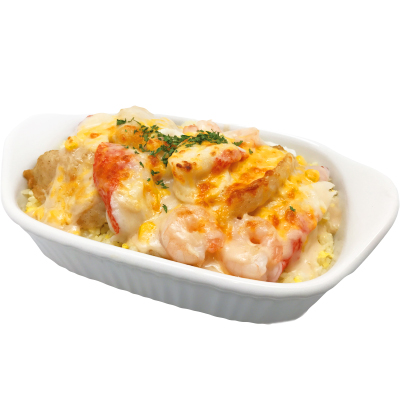 Y45 Baked Seafood & Rice in Creamy White Sauce