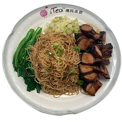 Y100 Hong Kong Style BBQ Pork with Tossed Wonton Noodle