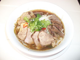 28. Rice Noodle Soup with Beef Stew